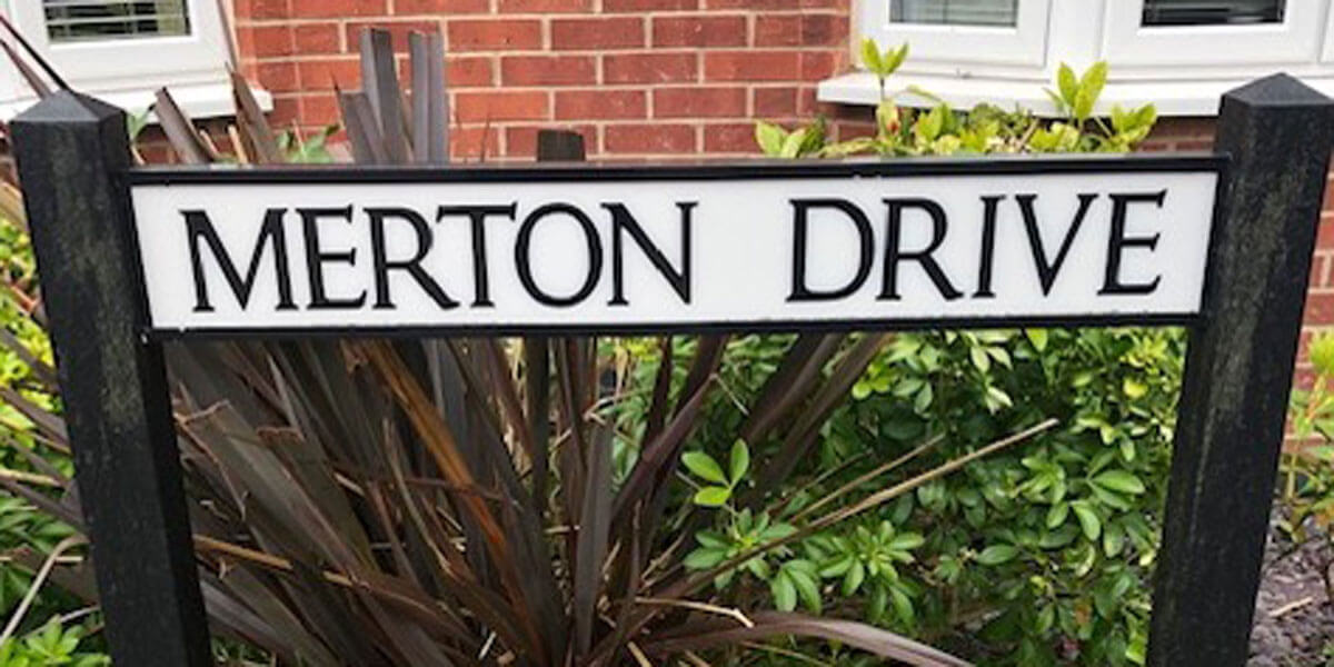 Road Sign For The Street Merton Drive