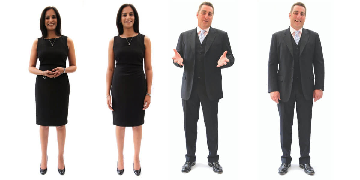 Business People Being More Confident