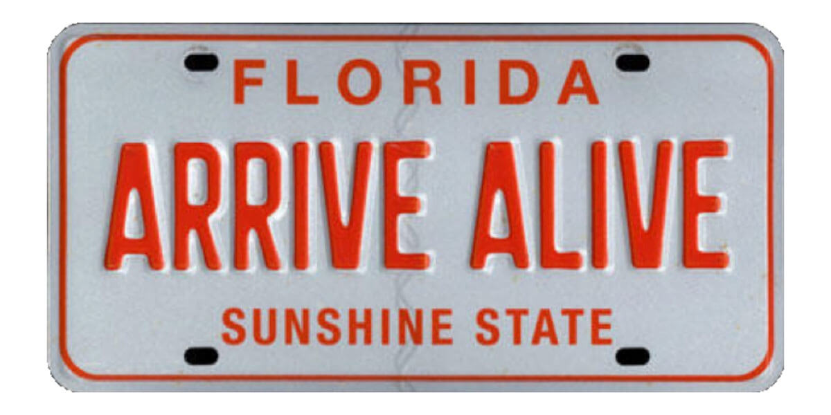 Florida State Number Plate