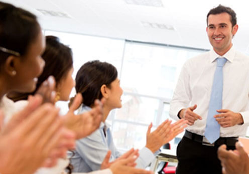 Business Person Attending One Of Our Public Speaking Courses